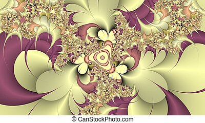 Digitally created fractal background - Digitally created...