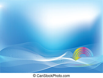 Abstract hi tech background with arrow - Abstract blue and...