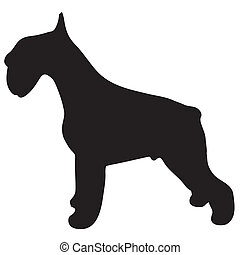 Silhouette of a dog terrier
