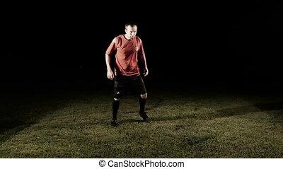 Two Men Training For Better Shape Slow Motion