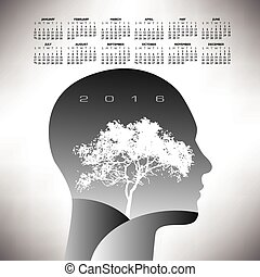 2016 ethereal calendar  for print or web