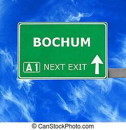 BOCHUM road sign against clear blue sky