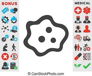 Amoeba Icon - Amoeba vector icon Style is bicolor flat...