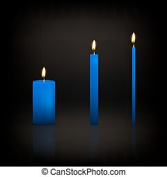 Candle set - Realistic 3d candle set on a dark background...