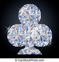 Casino background with clubs diamond poker element, vector...