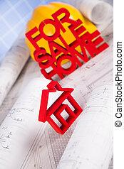 House model, architecture blueprints concept - House model...