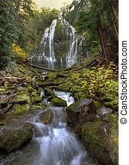 Proxy Falls along McKenzie Pass in Oregon