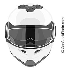 White motorcycle helmet on a white background