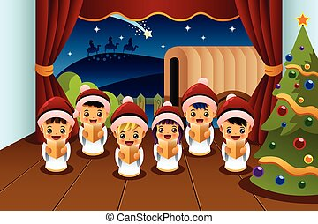 Kids Singing Christmas Carols