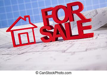 Architectural project, House under construction concept -...