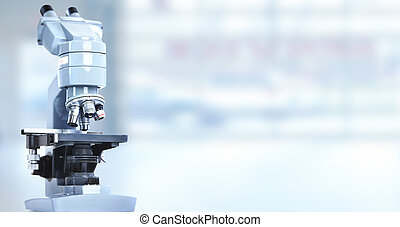 Microscope - Scientific microscope in laboratory Health care...