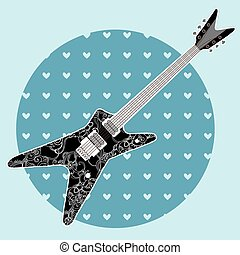 Cute grunge abstract guitar