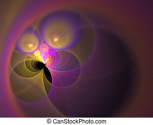 Abstract Fractal Vortex - A glowing fractal vortex that...