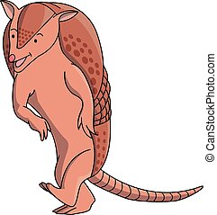 Armadillo cartoon illustration