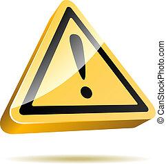 advertencia, señal