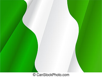 Flag of Nigeria for design as a background or texture