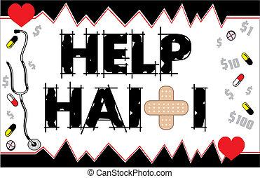 Help Haiti Card 2 - Vector Illustration to Help Haiti with...