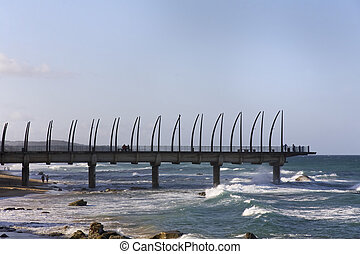Umhlanga Rocks Pier - Pier at Umhlanga Rocks in Durban,...