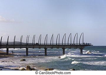 Umhlanga Rocks Pier - Pier at Umhlanga Rocks in Durban,...