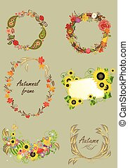 Collection of autumnal frameseps - Collection of autumnal...