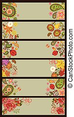 Horizontal decorative autum banner - Horizontal decorative...