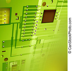 Electronic circuit board,2D digital art
