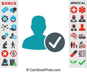 Valid Patient Icon - Valid Patient vector icon. Style is...