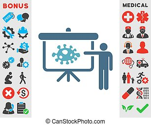 Bacteria Lecture Icon - Bacteria Lecture vector icon. Style...