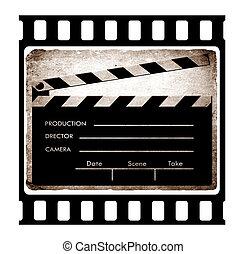 35mm slide frame with film clapboard