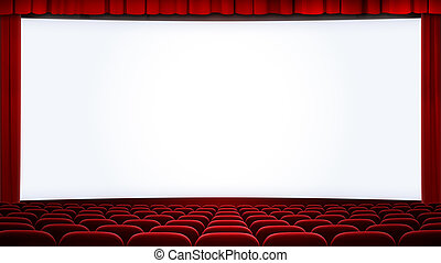 wide cinema screen backgound cropped with aspect ratio 16:9