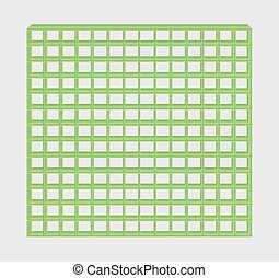 green jail bars - many green jail bars on gray background