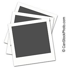 Polaroid film frames,2D digital art