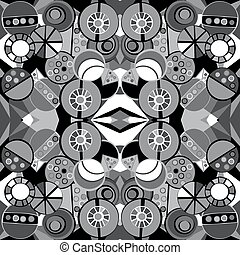 Pattern in cubism style - Black and white pattern in cubism...