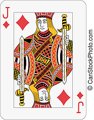 Jack of diamond playing card