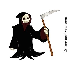 Grim Reaper - Vector cartoon illustration of a Grim Reaper