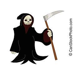 Grim Reaper - Vector cartoon illustration of a Grim Reaper