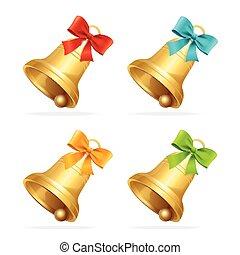 Christmass Bell Set Vector - Christmass Bell Set A...