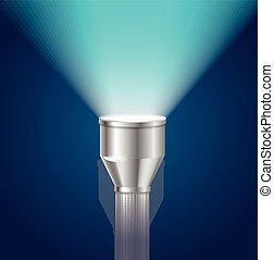 Pocket Torch Light Flashlight Vector - Pocket Torch Light...