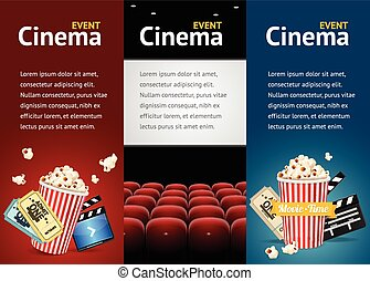 Realistic Cinema Movie Poster Template. Vector - Realistic...