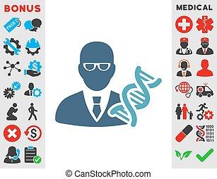 Genetic Engineer Icon - Genetic Engineer vector icon. Style...