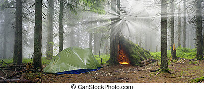 The old hut tent