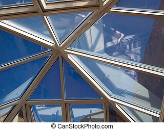 Architectural Abstract Glass roof ceiling