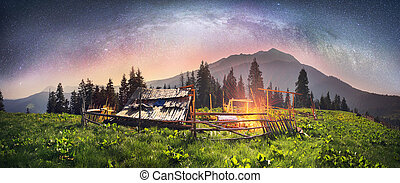 shepherds hut night - High in the mountains of the shepherds...