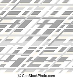 Vector retro geometric seamless pattern in grey colors -...