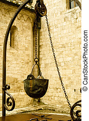 water-well - water well in san quirico,tuscany