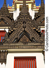 asia  thailand  in  bangkok    temple    sky      and  colors religion      mosaic