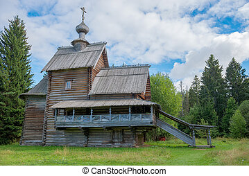 Wooden Christian Church of the Transfiguration (Ascension)...