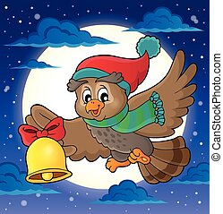 Christmas owl theme image 2 - eps10 vector illustration