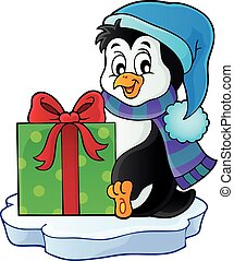 Christmas penguin topic image 5 - eps10 vector illustration