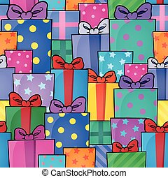 Seamless background gift theme 5 - eps10 vector...